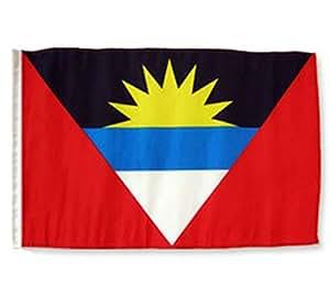 """Antigua y Barbuda poliéster jardín banderas de manga 12""""x18"""""""