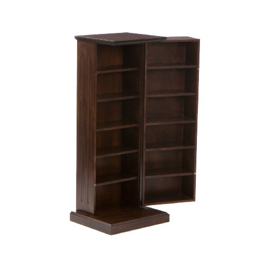 SEI Black Media Storage Pedestal, (Southern Enterprises Dvd Storage Media Storage)