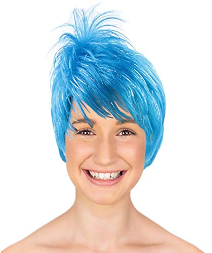 Halloween Party Online Joy Blue Wig, Adult HW-136 -