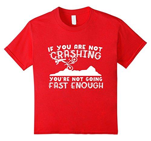 Kids Crash Test Dummy Downhill Mountain Bike T Shirt 8 Red