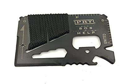 XP Tactical Survival 14-in-1 Credit Card Sized Multitool with almost 2 feet of Paracord from XP Tactical