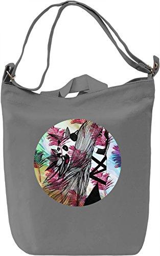 Panda Girl Borsa Giornaliera Canvas Canvas Day Bag| 100% Premium Cotton Canvas| DTG Printing|
