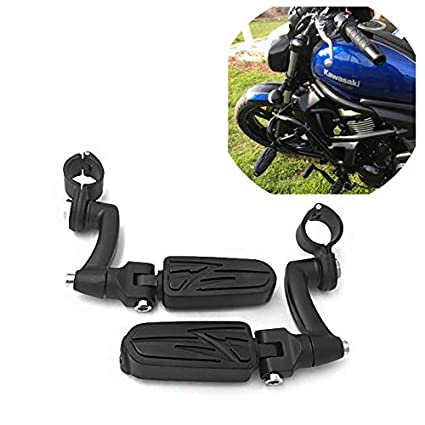 SMT Motorcycle Black Adjustable Highway Peg Mounting Kit Lightning Footrest  For Yamaha V-STAR Roadstar Suzuki Boulevard Equipped with 1 inch (1