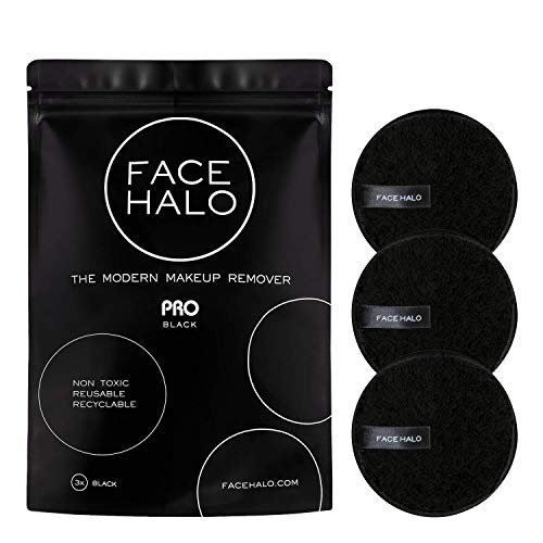Face Halo | Reusable Makeup Remover Pads, Round Makeup Remover Pads for Heavy Makeup & Masks – Microfiber Makeup Remover…
