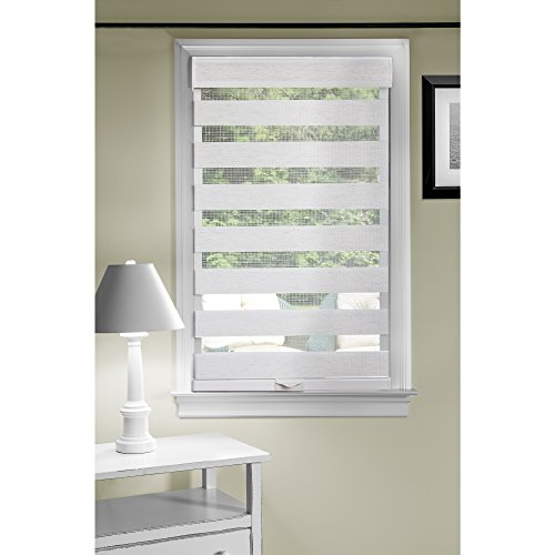 """Achim Home Furnishings Cordless Celestial Sheer Double Layered Shade, 23"""" by 72"""", Linen"""