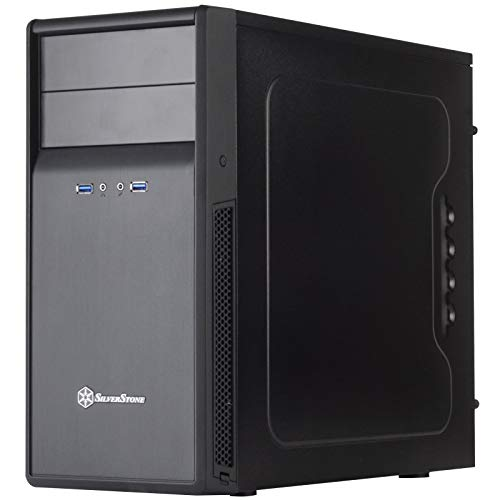 SilverStone Technology Micro-ATX Computer Case with Included Sound Dampening Material PS09B-USA