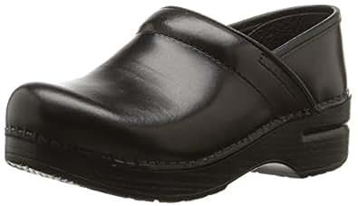 Dansko Women's Professional Box Leather Clog,Black,35 EU/4.5-5 B(M) US