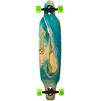 Sector 9 Blue Wave Lookout Drop through Complete Longboard Skateboard, 9x6 Inches x 42.0 - Inch