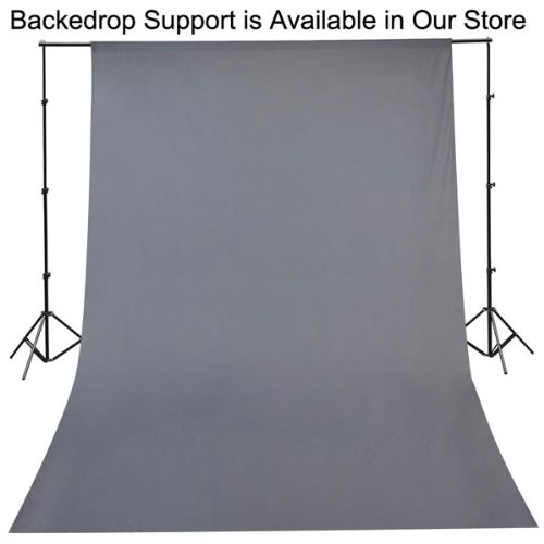 20x10ft Gray Background Muslin Backdrop