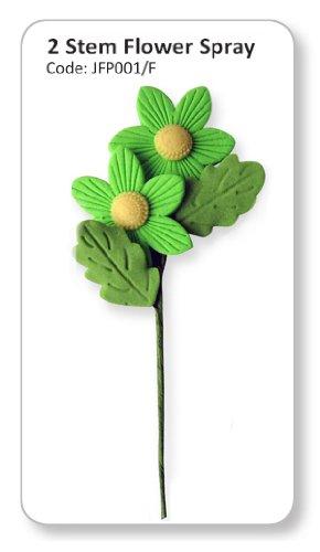 JEM Two Stem Flower Spray Dark Green