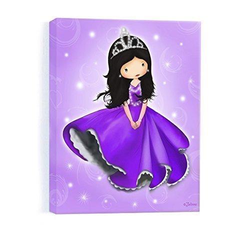 Princess Room Decor Canvas Wall Art for Girls Bedroom Purple Nursery Artwork 8