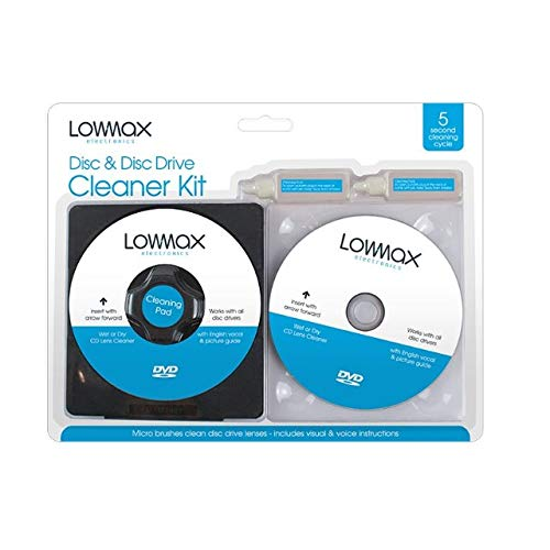 The Home Fusion Company 2 In 1 Disc And Disc Drive Cleaning Set CD's DVDs Games