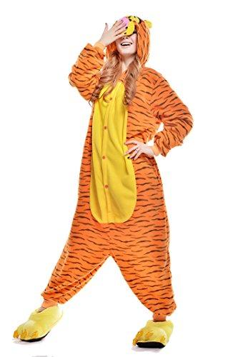 Newcosplay Unisex Jump Jump Tiger Pyjamas Kigurumi Cosplay