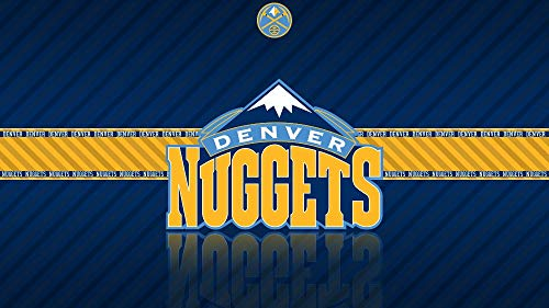 QIANDONG1 Painting by Numbers Basketball Team Logo Denver Nuggets DIY Hand-Painted Oil Painting Acrylic Modern Art,40x50cm,Framed