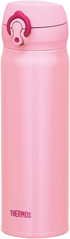 Thermos Stainless Steel Commuter Bottle, Vacuum insulation technology locks,0.5-L,Coral pink,[one-touch open type] ,JNL-502 CP
