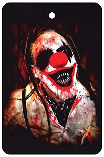 Freaky Clown Halloween Car Air Freshener -