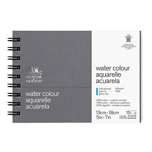 (Winsor & Newton Professional Watercolor Paper Journal, Cold Pressed 140lb, 5x7, White)
