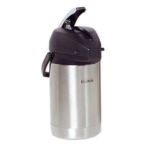 BUNN 32125.0000 2.5 Liter Lever-Action Airpot, Stainless Steel -