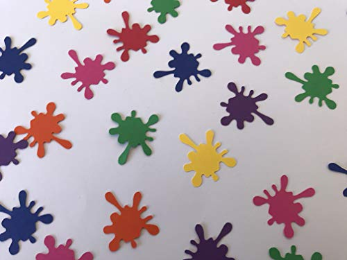 Paint Splatter Confetti - Paint Confetti - Art Party Decor - Art Confetti - Paint Birthday Party Decor - Art Birthday Party Decorations - 175 pieces from Good and Plenty Crafts
