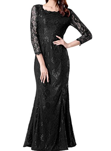 long black evening dress with sleeves - 2