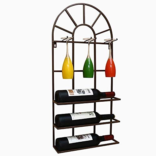 L&WB Wine Rack Decoration Wall Hanging Restaurant Wall Wine Racks, Arched White 351375 Wine Rack,A