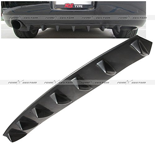 Universal Rear Body Bumper Diffuser Shark Fin Kit PU Spoiler