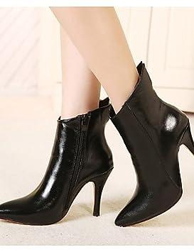 Zapatos de tacón bajo de cuero las mujeres tacones botas/botines/oficina y carrera