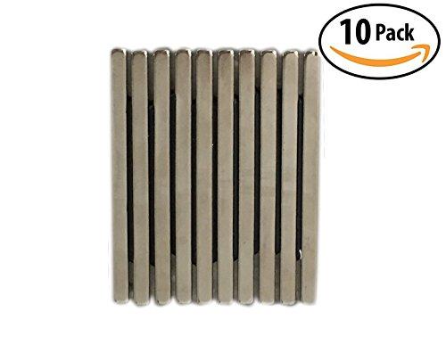 AOMAG Rare Earth Neodymium N48 Bar Block Magnet 60 x 10 x 4 mm, (Pack of 10)