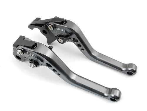- A pair of Short Billet Aluminum Clutch & Brake Levers Motorcycle Set Gray for Yamaha YZF R6 1999 2000 2001 2002 2003 2004 (Y-688/F-14)