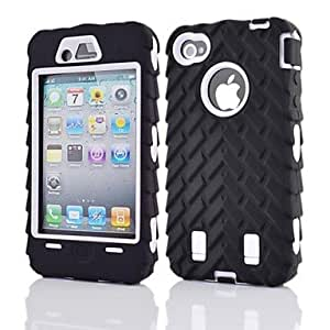 SHOUJIKE 2 in 1 Armor Robot Style PC and Sillcone Composite Case for iPhone 4/4S(Assorted Colors) , Blue