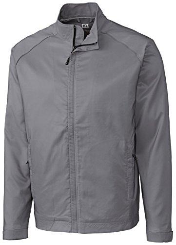Weathertec Jacket (Cutter & Buck MCO00945 Mens Cb Weathertec Blakely Full Zip, Oxide-XL)