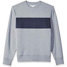 Amazon Essentials Men's Patterened Crewneck Fleece Sweatshirt