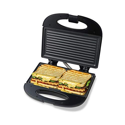 [Apply Coupon] - Pheebs Non-Stick Grill Sandwich Maker with Cool Touch Handle and Lid Lock - (Silver and Black, 800 Watt)