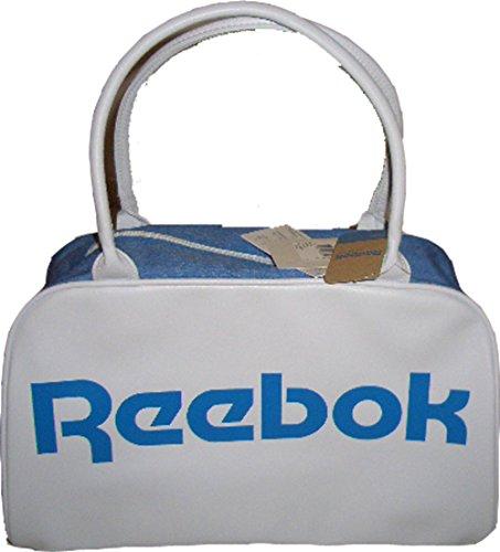 Reebok Ao0484 - Borsa A Mano, Colore Bianco-Blu, 43 X 26 X 17 Cm