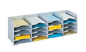 Paperflow - Organizador de oficina (20 compartimentos), color gris