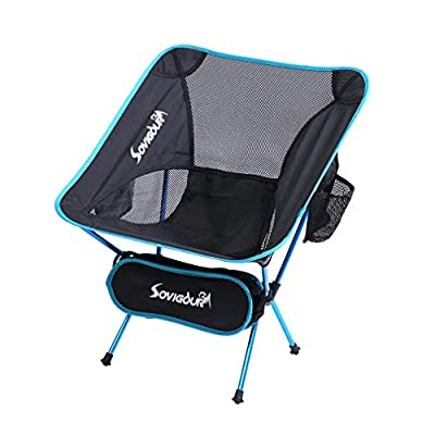 SOVIGOUR Folding Camping Chair, Outdoor Portable Camping Chair, Lightweight Backpacking Chair, Heavy Duty Compact Camp Chair for Hiking Picnic Finishing and Travel with Carry Bag