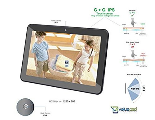 ValuePad VP112-10 10-Inch 16GB Tablet Bundle with Screen Protector, Micro USB Cable, OTG Cable, Charger and Manual - Black (Case Valuepad Tablet)