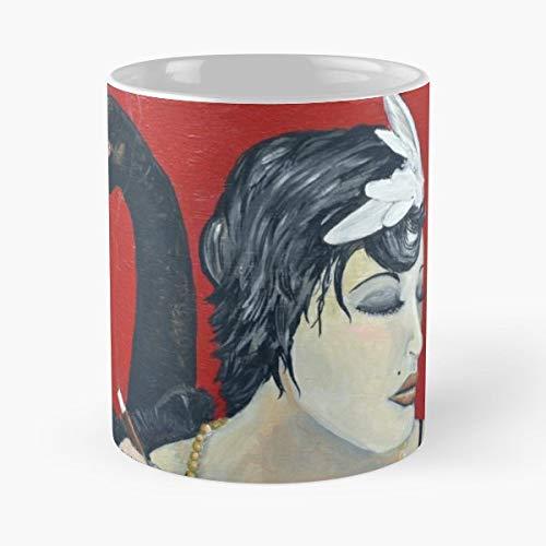 Black Swan Flapper Smoke - Funny Gifts For Men And Women Gift Coffee Mug Tea Cup White-11 Oz.]()