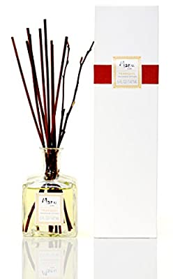 Manu Home Tranquil Reed Diffuser ~ Woodsy Sandalwood, Cedar notes & Ylang Ylang Essential Oil! Great Relaxing Scent ~ Made in the USA~ 5.2 oz of Amazing Earthy Scent~