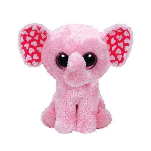 Ty Sugar Elephant Plush, Pink, Medium (Elephant Ty Beanie Baby)