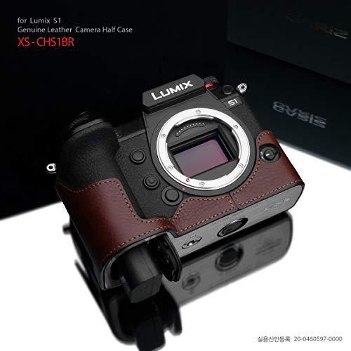 Gariz XS-CHS1BR Genuine Leather Half Case for Panasonic Lumix S1 / S1R, Brown