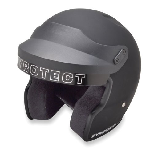 Pyrotect 9120995 Airflow SA2010 Open Face Helmet, X-Small, Flat Black