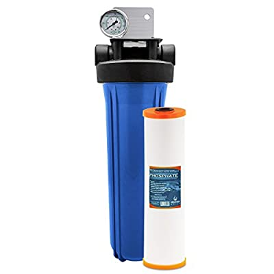 """Express Water Whole House System Phosphate Antiscale Sediment Filter 1 Stage Filtration 4.5"""" x 20"""""""