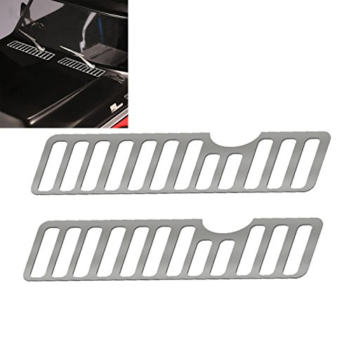 XBERSTAR Metal Hood Engine Vent Cooling Grille Decoration Accessories Grill Cover Kit for DJ Traxxas TRX4 Ford Bronco