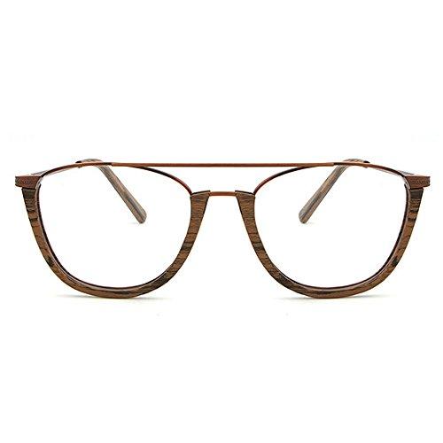 de Gafas gafas de semi Gafas clásicas con madera de Gafas sol redondas de sol unisex sin mujeres montura de Hombres para protección sol Marrón conducción de Gafas de de sol esqu Gafas Retro sol de UV playa nfqOgxf