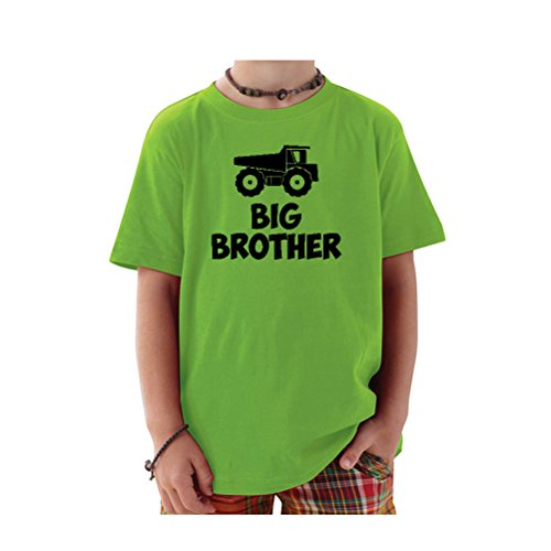 Price comparison product image We Match! Big Brother Dump Truck Toddler & Kids T-Shirt (Apple, 3T)
