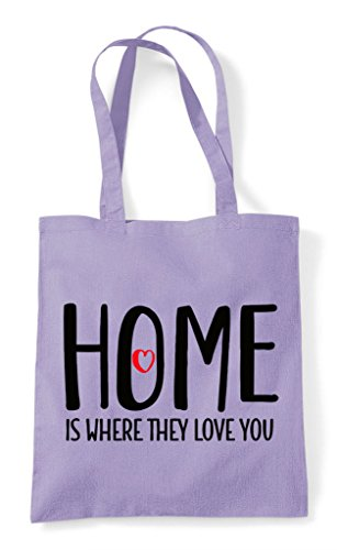 Shopper Where Lavender Home Is You Bag Family They Love Tote Statement z5Uw5pOq