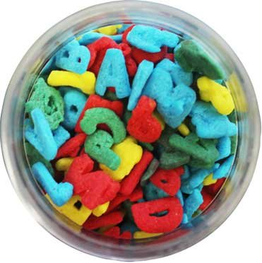 Letters Alphabet Edible Sprinkles - 8 -