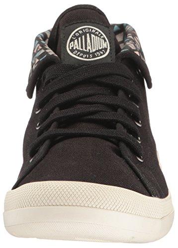 Palladium Aventure, Zapatillas para Mujer Negro (Black/marshmallow/pyramid Print)