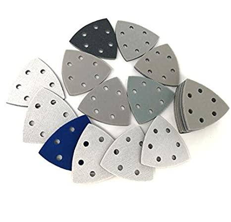 Grit simple Set pour choisir 6 trous Triangle Grit 2000 Wet//Dry Flocage /éponge Pon/çage Disque Papier abrasif 90 90 90 MM 300-3000 Grit Outils abrasifs pour polissage 10pcs//Lot de meulage
